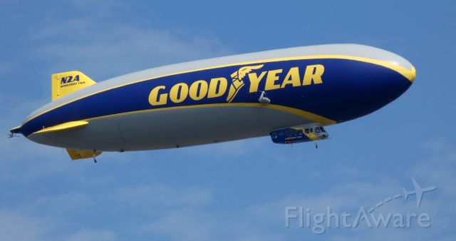 Unknown/Generic Airship (N2A) - Shortly after departure is this 2016 Goodyear Blimp in the Summer of 2019 mainly serving the East Coast of the United States.