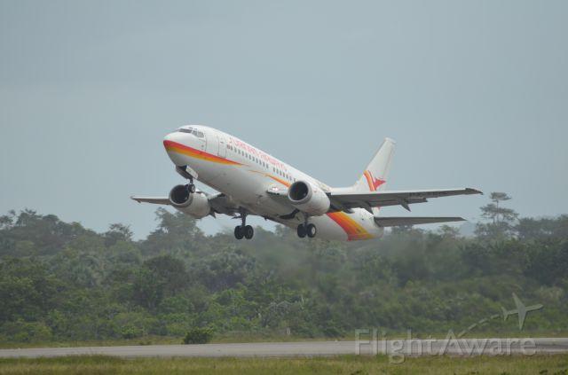 BOEING 737-300 (PR-TCN) - Surinam 9918 is airborne from Cayenne (SOCA) to Paramaribo (SMJP)