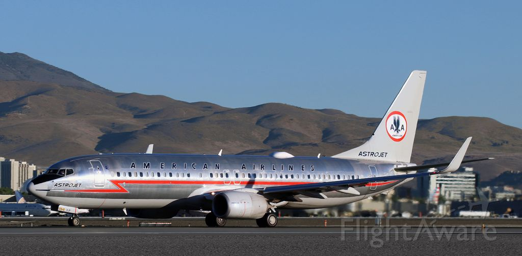 Boeing 737-800 (N905NN) - Departing on its first flight of a new day after a RON stay at RNO.