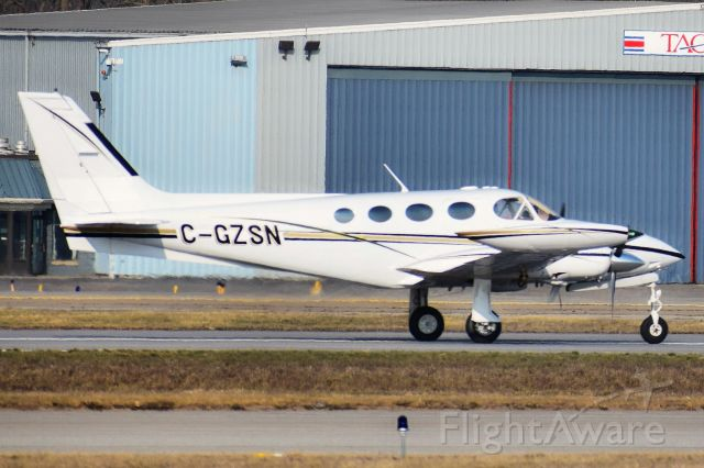 Cessna 340 (C-GZSN) - Privately owned Cessna 340 departing Runway 14 at the Buffalo Niagara International Airport for Hamilton (CYHM)br /br /** First Photo of C-GZSN on FlightAware **