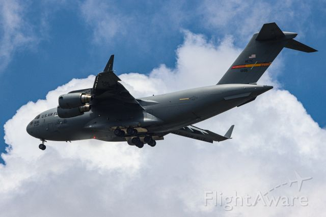 Boeing Globemaster III (01-0195) - Atlus C-17 working the pattern at Alliance. Taken just north of AFW from my backyard