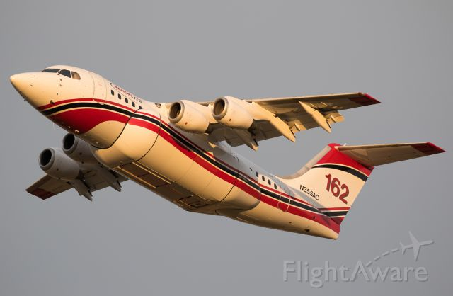Avro Avroliner (RJ-85) (N355AC) - Departing for a fire in the Klamath National Forest.