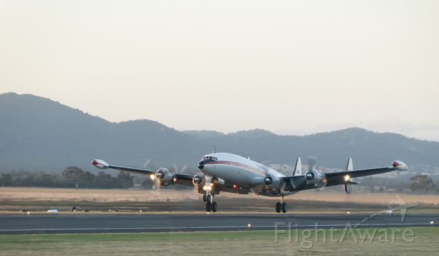 VH-EAG — - HARS Connie taking off at Australian International Airshow 2013