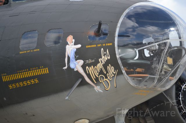 Boeing B-17 Flying Fortress (N3703G) - Nose Art from Memphis Belle at Charleston Executive Airport