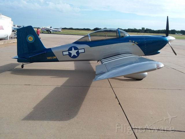Experimental 100kts-200kts (N851JM) - Gorgeous RV-8 badged with the seal of the Choctaw Nation at Guthrie-Edmond aviation event.