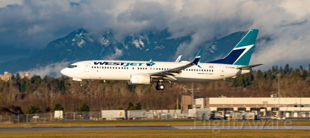 Boeing 737-800 (C-FXMS) - WestJet Boeing 737-8CT C-FXMS arrival in some nice late afternoon light at YVR from LAX