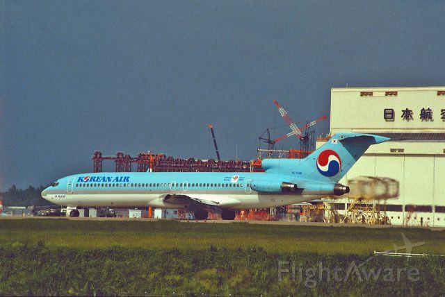 BOEING 727-200 (HL7348) - Departure at Narita Intl Airport Rwy34 on 1987/09/15