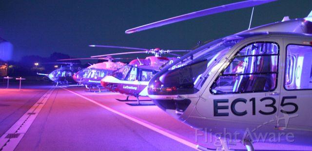 Eurocopter EC-635 — - Airbus Industrie - handover celebration - pattern presentation -