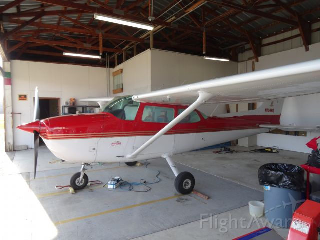 Cessna Skyhawk (N734RQ) - safe in the Flywell Hanger at Michigan West