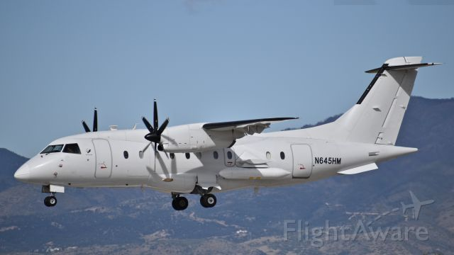 """Fairchild Dornier 328 (N645HM) - USAF Dornier 328-100 (aka C-146A """"Wolfhound""""), assigned to the 492nd Special Operations Wing, on final for RWY 17L at Colorado Springs Airport"""