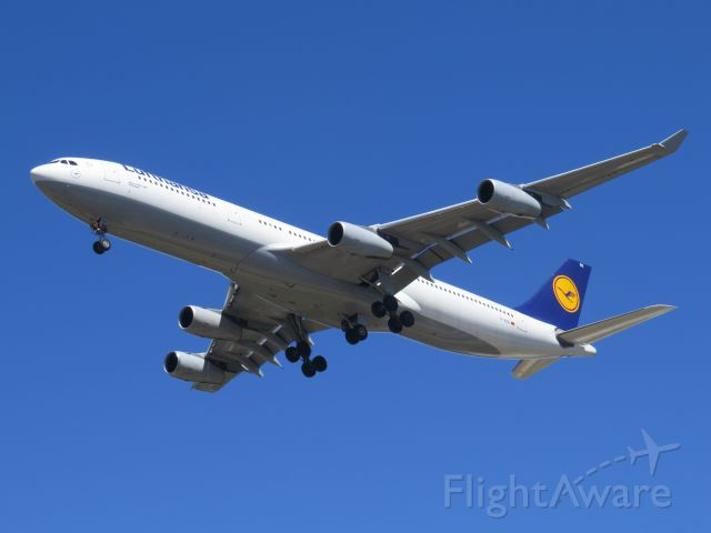 Airbus A340-300 (D-AIGO) - City park east of runway 27. LH 467 arriving in San Diego at 1:25pm from Frankfurt, Germany