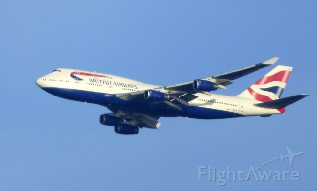 Boeing 747-400 (G-BYGF) - Shown here is British Air Boeing 747-400 a few minutes until it lands in the Autumn of 2017.