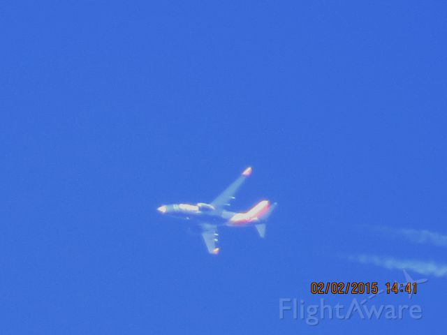Boeing 737-700 (N7710A) - Southwest Airlines flight 603 from ATL to DEN over Southeastern Kansas at 38,000 feet.