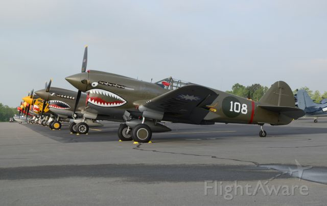 N1941P — - P-40 line up for the 2015 Arsenal of Democracy  DC fly over. May 7, 2015. Culpepper Virginia Regional Airport.