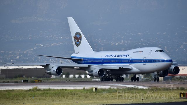 BOEING 747SP (C-FPAW) - Pratt & Whitney Canada Boeing 747SP-J6 performing aircraft engine testing at Colorado Springs