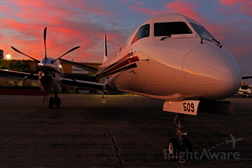 Saab 2000 (N509RH) - Under a great Florida sunset!