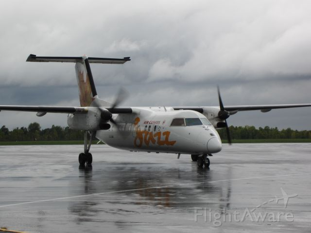 de Havilland Dash 8-100 (C-GJMI) - Dash 8 100 at Kingston Ontario on a cold and wet day in 2012