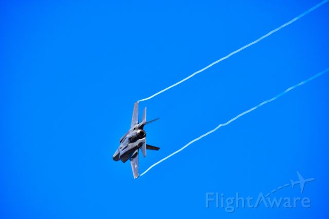 Lockheed F-22 Raptor — - Departing F-22 from KLSV during operation Red Flag