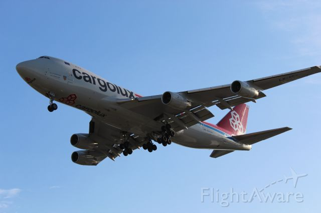 Boeing 747-400 (LX-VCV) - Newly repainted Cargolux aircraft, still with Air France Registrations