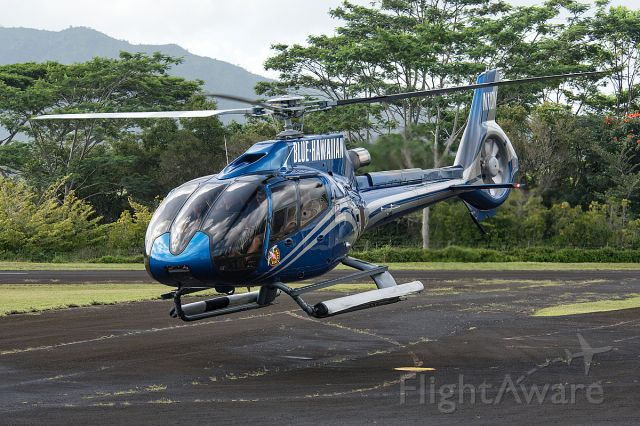 Eurocopter EC-130 (N11QN) - Departing for another tour flight around the Island.
