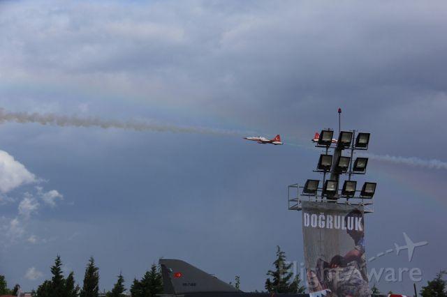— — - 134 THE SQUADRON DEMO TEAM TURKISH STARS.. AIR BASE KONYA-TURKIYE