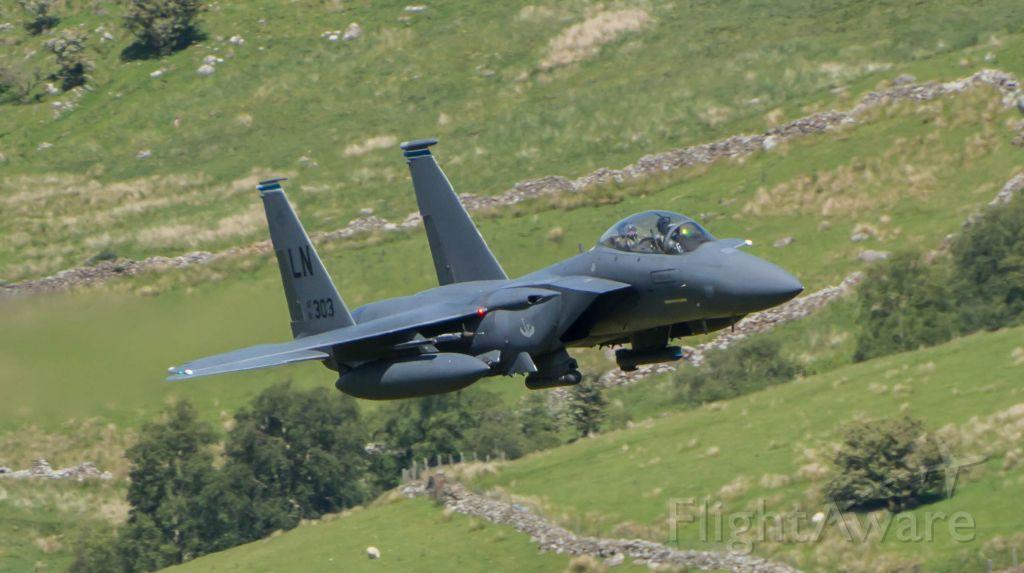 McDonnell Douglas F-15 Eagle (BREW11) - USAF F15 Through the Mach Loop (CAD West)