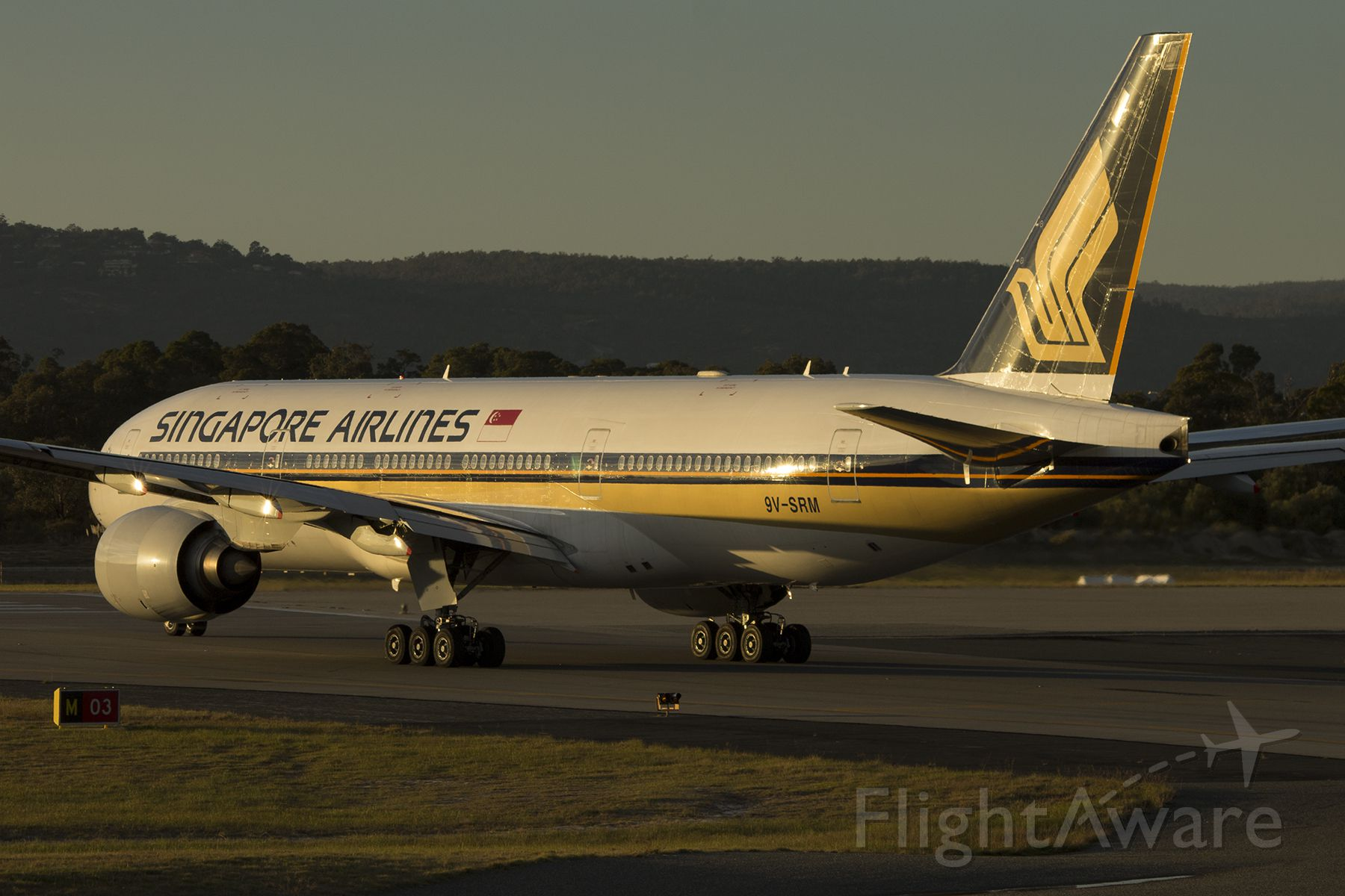 Boeing 777-200 (9V-SRM) - Early morning shot from today.