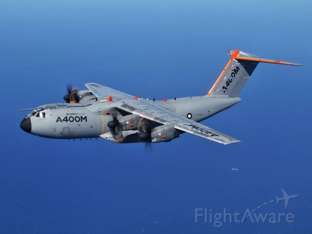 AIRBUS A-400M Atlas — - Air to Air with the A400 developement aircraft