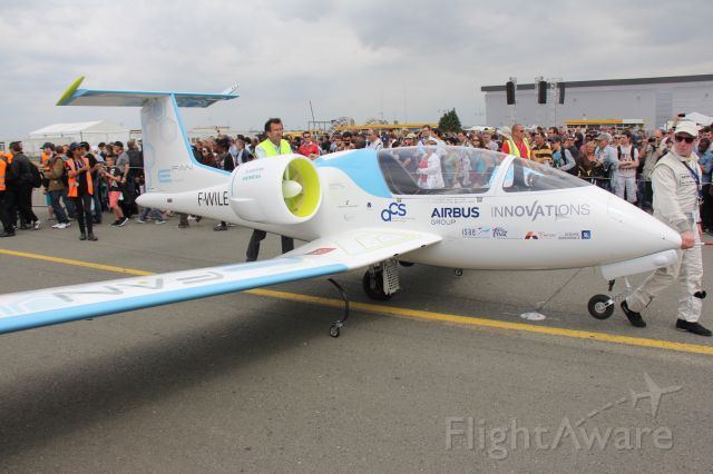 AIRBUS E-Fan (F-WILE) - Airbus E-Fan<br />Electric motors aircraft<br />Manufactured in 2014, France<br />Photo: 20.06.2015
