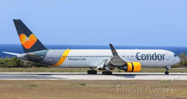 BOEING 767-300 (D-ABUP) - Thomas Cook Airlines UK Condor airlines Boeing 767-300 D-ABUP rolling out at TNCC Hato after arriving from Frankfurt Int'l (FRA / EDDF) Germany. 28/04/2019
