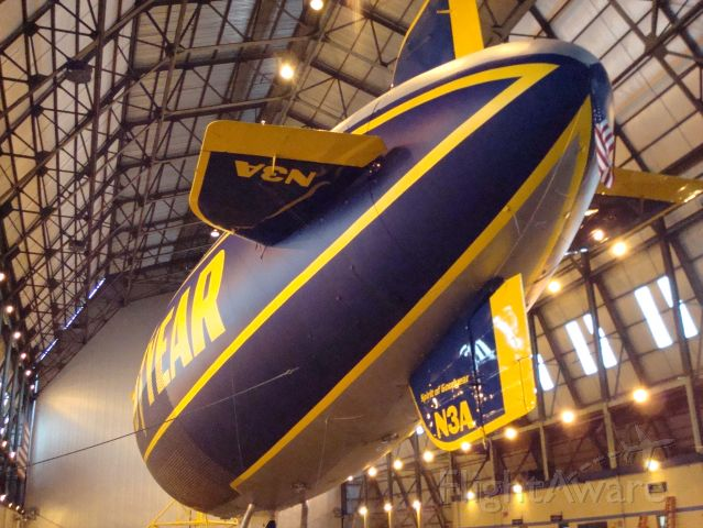 Unknown/Generic Airship (N3A) - Spirit of Goodyear in hangar in Akron OH.