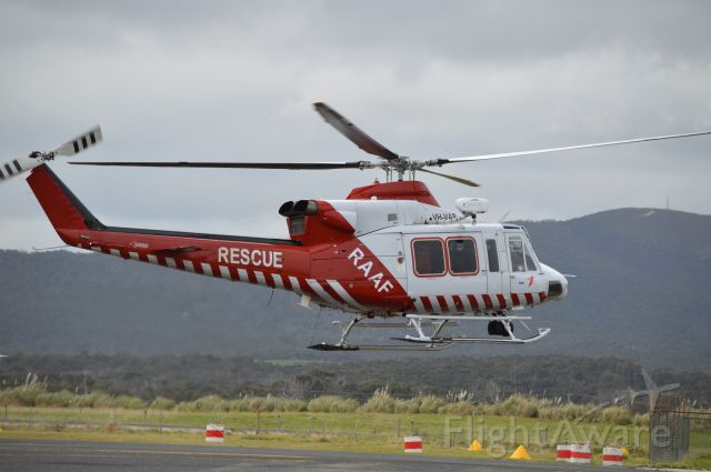 Bell 412 (VH-VAB) - CHC Helicopters VH-VAB arriving at Flinders Island Sept 2016