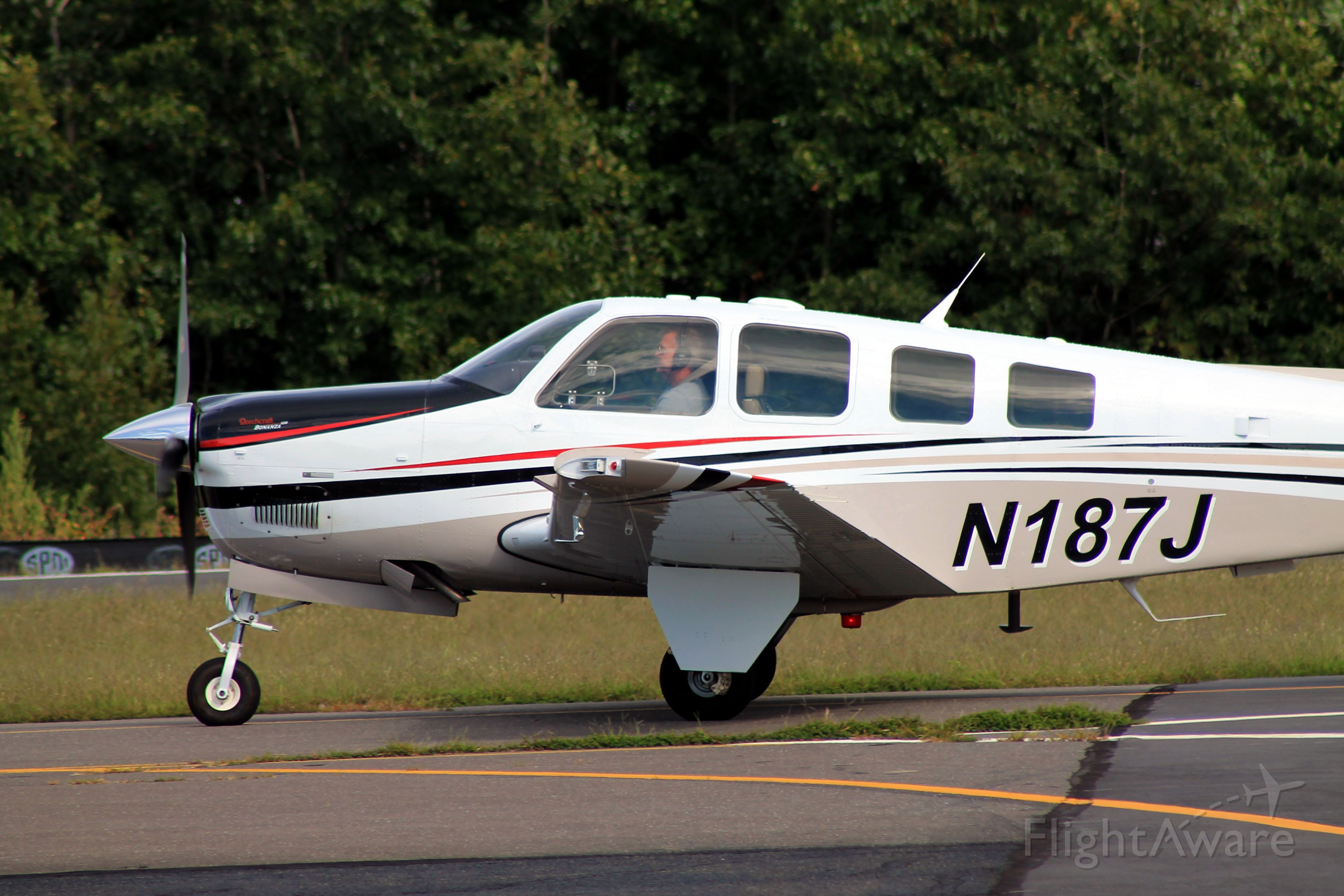 Beechcraft Bonanza (36) (N187J) - Taken on September 7, 2013.