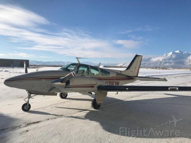 Beechcraft 55 Baron (N7153N) - Morning flight 8 degrees at KMEV