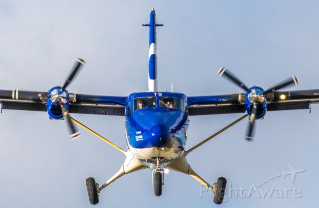 De Havilland Canada Twin Otter (G-SGTS) - On finals for BRR Rwy 15