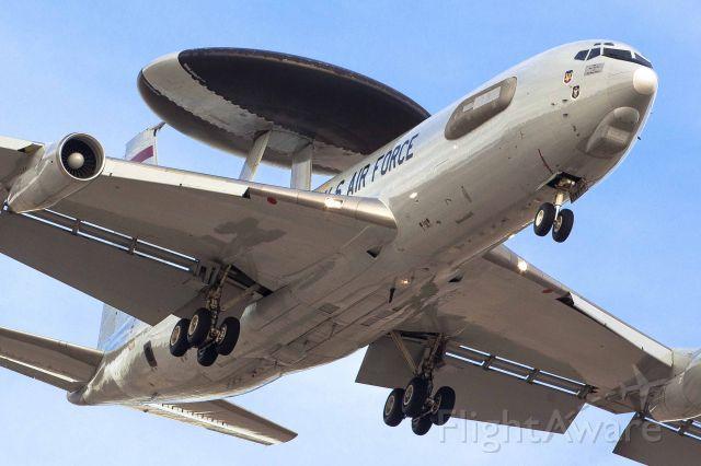 — — - Boeing E-3 Sentry. AWACS. Red Flag exercise at Nellis Air Force Base (Feb. 2014)