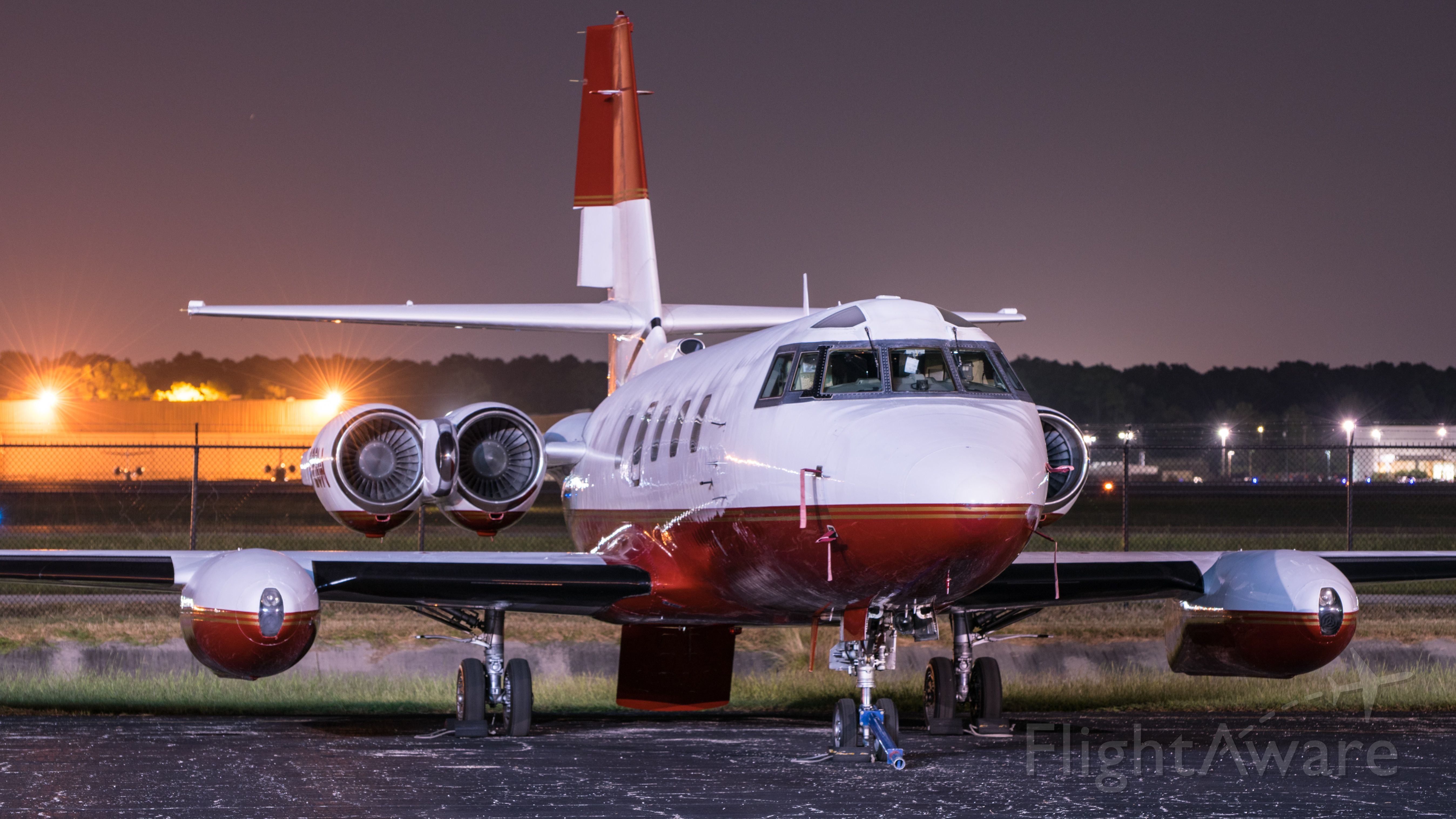 Lockheed Jetstar 2 (N72GW) - Jetstar resting on the ramp after undergoing engine