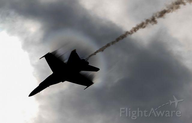 McDonnell Douglas FA-18 Hornet (16-3706) - Lieutenant Commander Andre Webb performing the sneak pass!!
