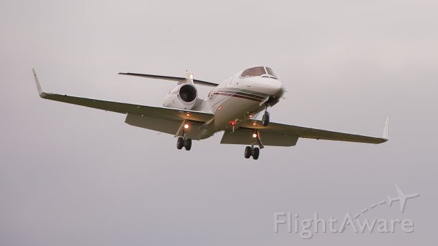 Learjet 31 (N744N) - Adjusting for the approach to runway 19 Cape May County Airport.NJ