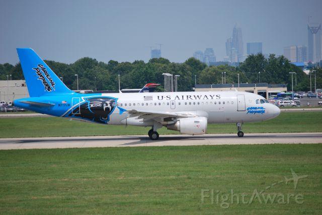 Airbus A319 (N717UW) - Rolling down runway 18C - 6/28/09