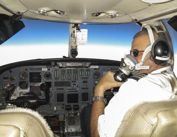 Cessna Citation V (N365EA) - At FL450.