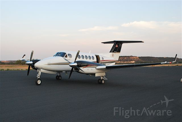 Beechcraft Super King Air 200 (N521BA) - On the ramp at Junction, TX