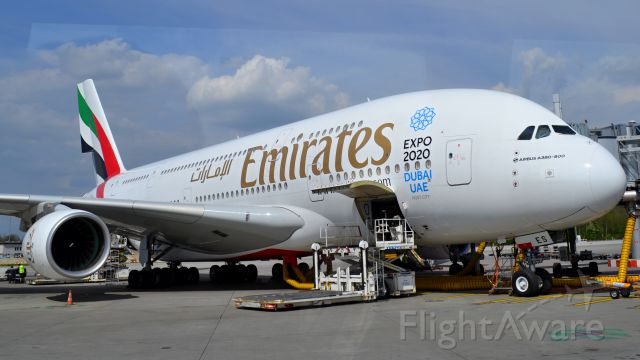 Airbus A380-800 (A6-EES) - Emirates A380 getting prepared to fly back to Dubai - I
