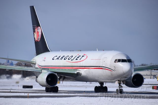 BOEING 767-200 (C-FGAJ) - Cargojet B762 (BDSF) taxiing at BUF before heading onto BQK after arriving from YHM...