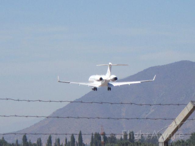 Bombardier Global Express (D-AGJP) - Landing in SCEL RWY 17R