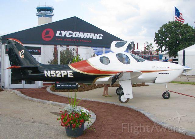 Lancair Evolution (N52PE) - At AirVenture 2016.<br /> 2014 Lancair Evolution