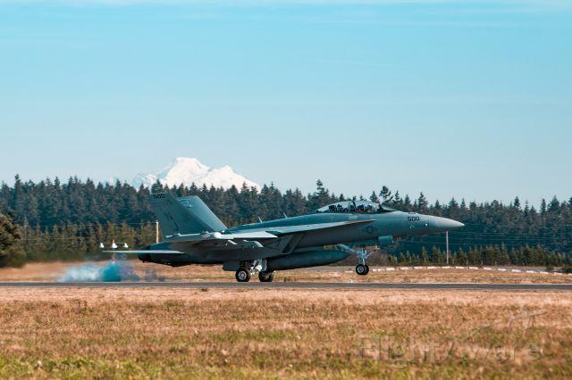 McDonnell Douglas FA-18 Hornet — - Note Mount Baker in the background.
