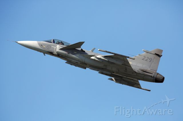 Saab JAS39 Gripen (229) - Swedish Airforce / Saab JAS-39 Gripen Solo-Display / AIR 14 / Payerne / CH