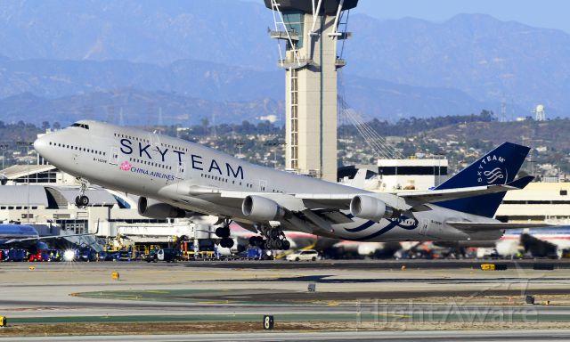 Boeing 747-400 (B-18206) - B-18206 SkyTeam (China Airlines) Boeing 747-409 (cn 29030/1145)  Los Angeles - International (LAX / KLAX) USA - California, October 23, 2012 TDelCoro