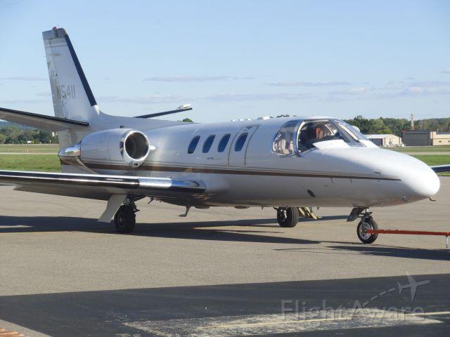 Cessna Citation 1SP (N5411) - On the ramp Waupaca Wis. 2016